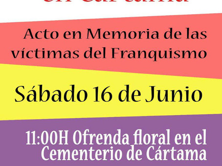 Cártama (Málaga). VI Ofrenda Floral en Cártama. Acto en memoria de las víctimas del franquismo.