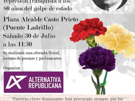 Homenaje a Casto Prieto y las víctimas del franquismo en Salamanca