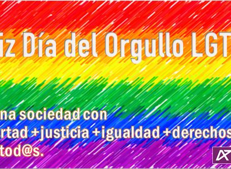 Orgullo LGTB+ 2020.  Frente al fascismo y la intolerancia