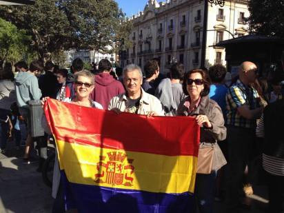 Representación de ALTER Valencia en la manifestación.