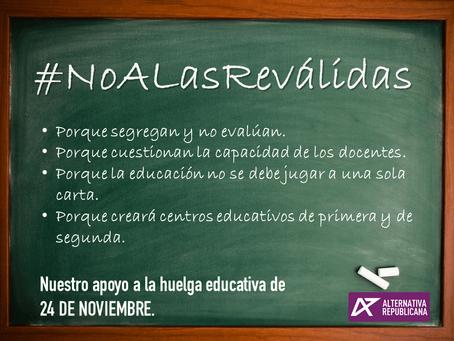 Alternativa Republicana apoya la huelga educativa del 24 de noviembre