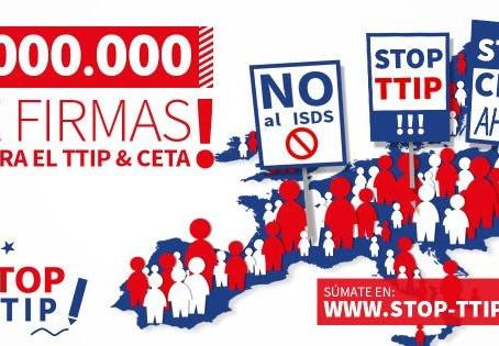 Nuevo record: 2 millones de personas dicen #NOalTTIP y CETA