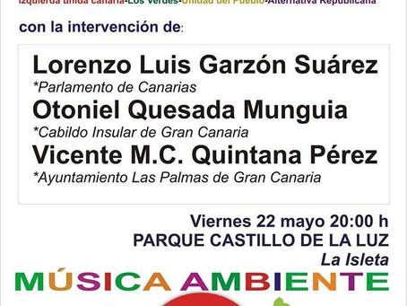 Acto final de campaña de Canarias Decide en Las Palmas