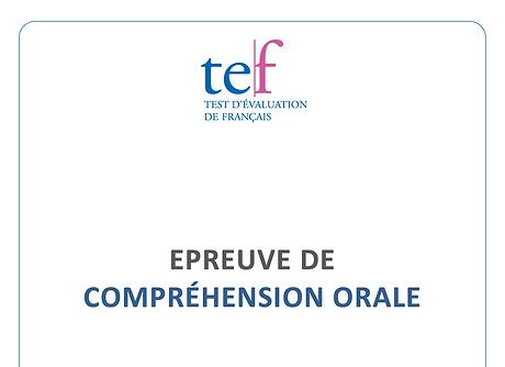 (TEF) Compréhension Orale