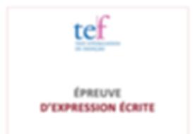 (TEF) Expression écrite