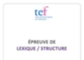 (TEF) Lexique / structure