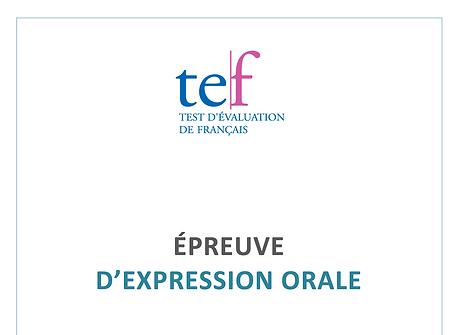 (TEF) Expression orale