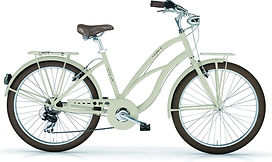 Beach cruiser Maui roues marrons 7 vitesses shimano commercialisé par Barbier SL Cycles