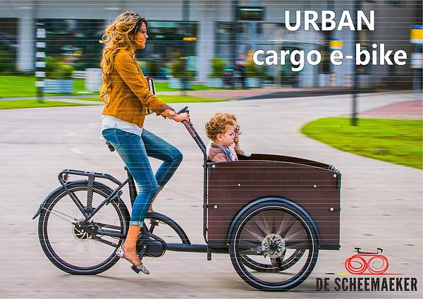 Triporteur urban cargo e-bike commercialisé par Barbier SL Cycles Chartres