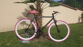 Fixie femme commercialisé par Barbier SL Cycles