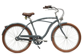 Beach cruiser Arcade homme gris 3 vitesses nexus commercialisé par Barbier SL Cycles