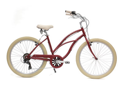 Beach cruiser Arcade rouge cerise commercialisé par Barbier SL Cycles à Chartres
