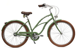 Beach cruiser Arcade femme vert 3 vitesses nexus commercialisé par Barbier SL Cycles