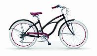 Beach cruiser honolulu noir roues blanches 6 vitesses shimano commercialisé par Barbier SL Cycles