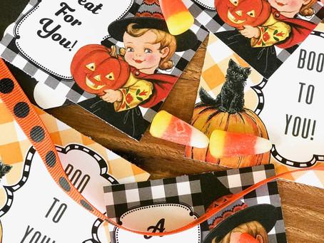 Free Vintage Halloween Gift Tags