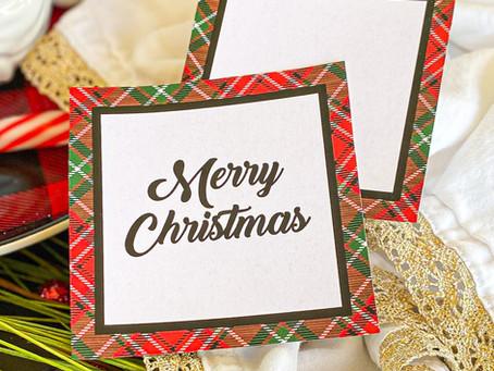 Free Tartan Plaid Gift Tags