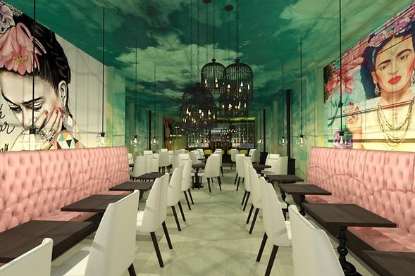 Diseñador de interiores para restaurante