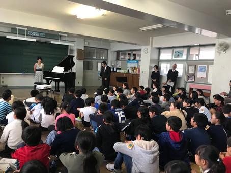 学校コンサート(静岡)、そして講話