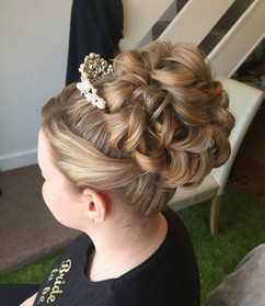Wedding hair up at Fine to Fabulous Salon