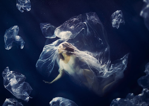 """Drowning In Plastic"" - Awareness Campaign for The Marine Conservation Society"