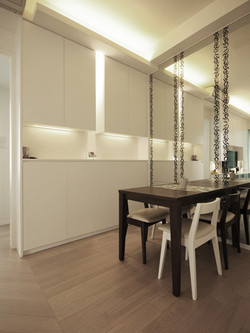 1210-modern white mirror-dinning table-home idea-breeze design studio 柔室內設計裝修.JP