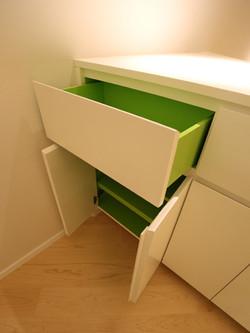 0610-color drawer cabinet-living bedroom-home idea-breeze design studio 柔室內設計裝修.