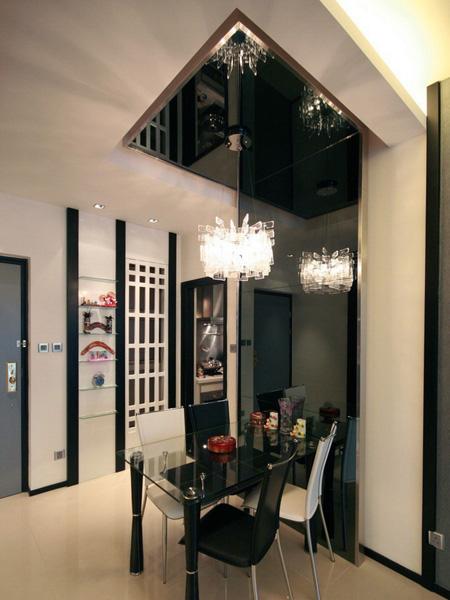1480-grey mirror feature wall light-living-home idea-breeze design studio 柔室內設計裝