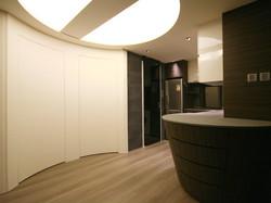 0650-curved door round ceiling light-open kitchen-home idea-breeze design studio