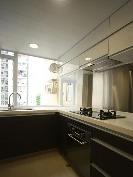 0930-modern black white-open kitchen-home idea-breeze design studio 柔室內設計裝修.JPG