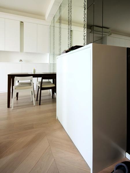 1240-modern white mirror-dinning table-home idea-breeze design studio 柔室內設計裝修.JP