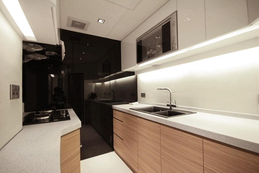 1320-black glass-kitchen-home idea-breeze design studio 柔室內設計裝修.JPG