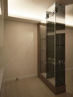1280-modern gray glass display cabinet-entrance-home idea-breeze design studio 柔