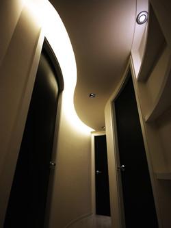 0310-curved falsed ceiling light-corridor-home idea-breeze design studio 柔室內設計裝修
