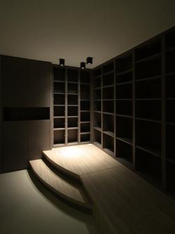 1580-wood bookshelf floor storage-living-home idea-breeze design studio 柔室內設計裝修.