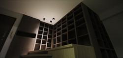1570-wood bookshelf floor storage-living-home idea-breeze design studio 柔室內設計裝修.
