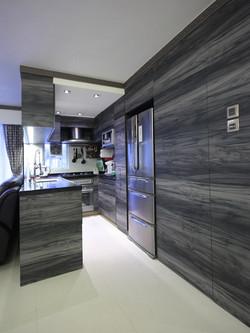 0970-cool modern tech-semi open kitchen-home idea-breeze design studio 柔室內設計裝修.J