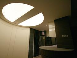 0660-curved door round ceiling light-open kitchen-home idea-breeze design studio