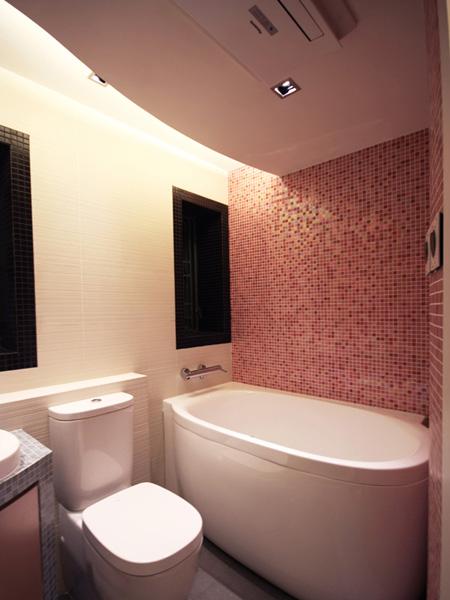 0340-mosaic wall ceiling light- bathroom-home idea-breeze design studio 柔室內設計裝修.