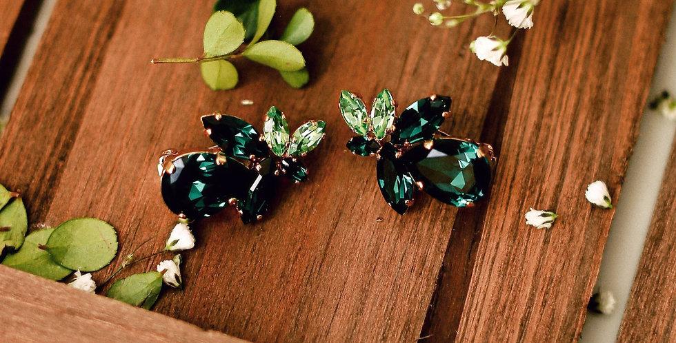 Pear Clip Earrings