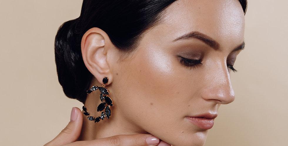 Half Moon Stud Earrings