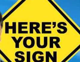 Yes, here's my sign