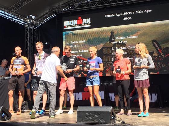 Martijn Paalman 1ste bij Ironman Maastricht (age group 30-34)