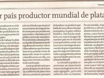 PERÚ: PRIMER PAÍS PRODUCTOR DE PLATA