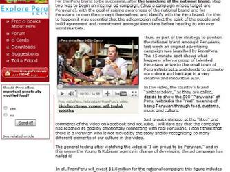 Analysis: PromPeru's ad campaign a succes
