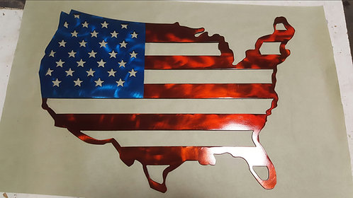 Custom United States Flag Wall Art