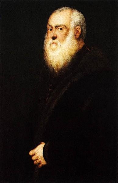Tintoretto: Portrait of a White Bearded Man (n. 1545).