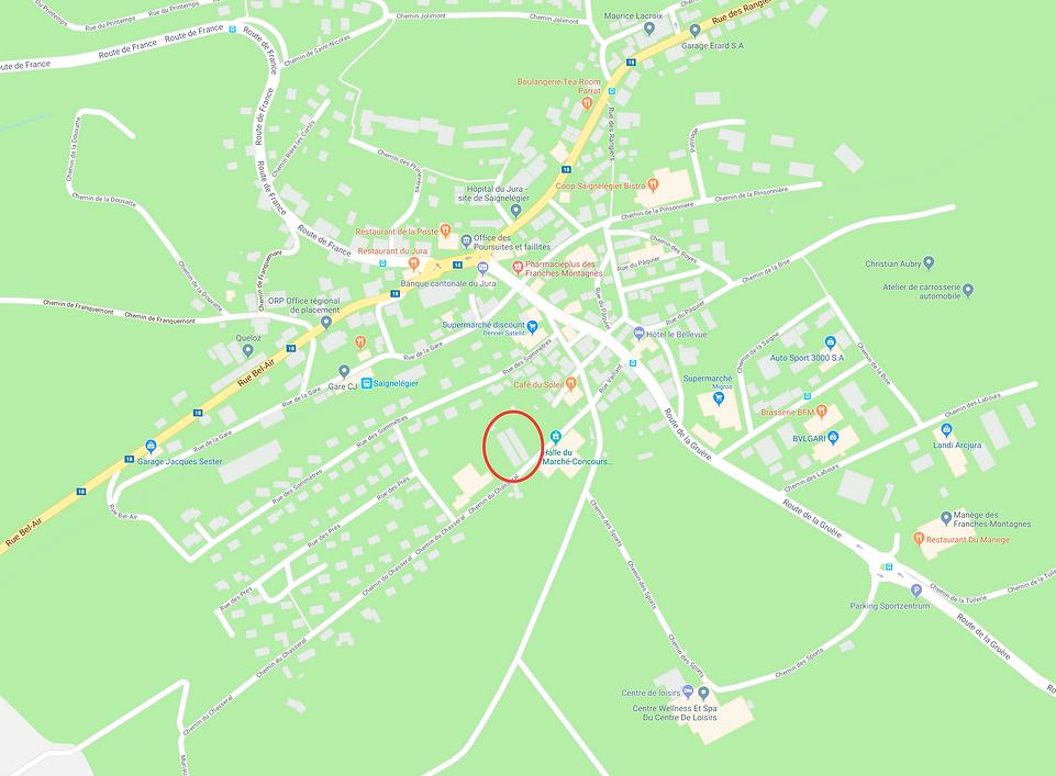 Plan du site, 2350 Saignelègier