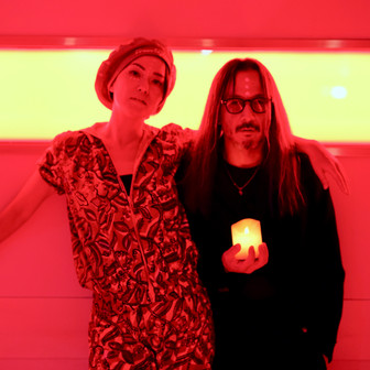 DJmacromance with Maki Saito /Photographed by Yusuke Sato
