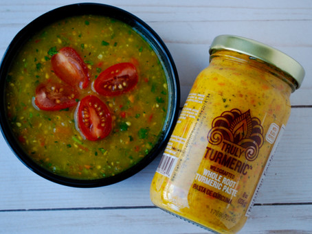 Yellow Tomato and Turmeric Salsa