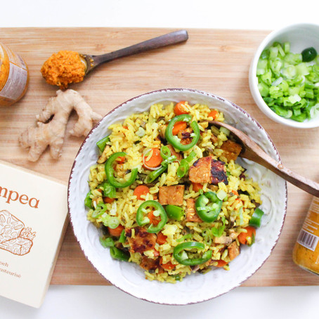 Truly Turmeric Tempeh Fried Rice